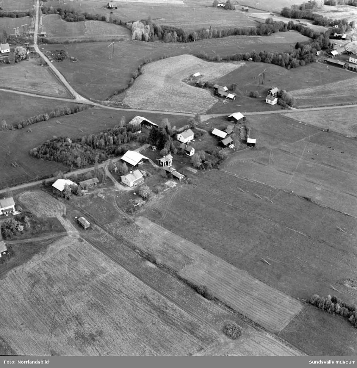 Flygfoto över Birsta, 1960-tal.