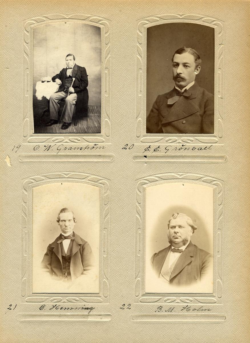 Porträtt av postmästaren i Arboga, Olof Hemning.