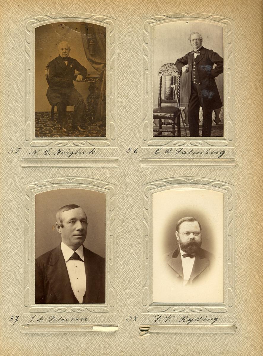 Porträtt av postmästaren i Vänersborg 1874-1890, Johan Adolf Peterson.