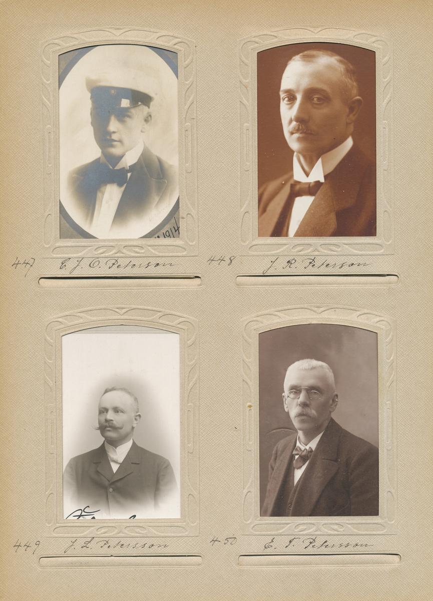 Porträtt av Carl Johan Oscar Petersson, extra postexpeditör 1916.