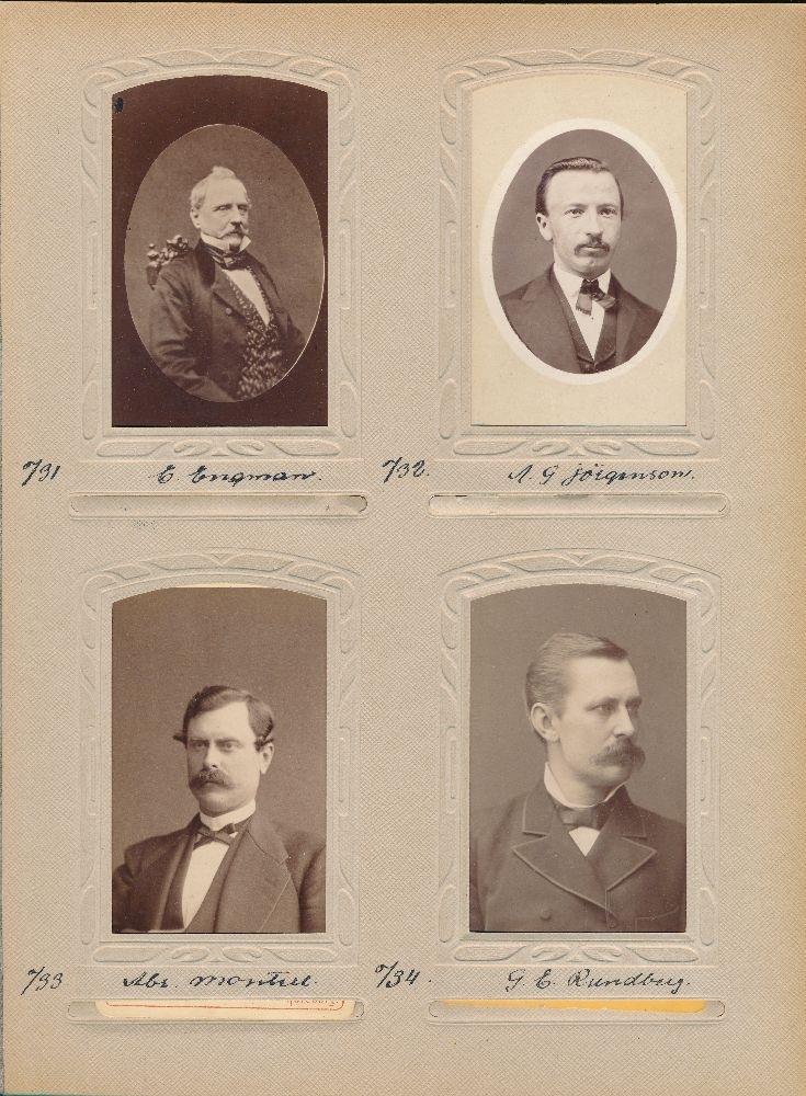 Porträtt av Alfred Georg Jörgensson, postmästare i Sävsjöström  1884-1895.