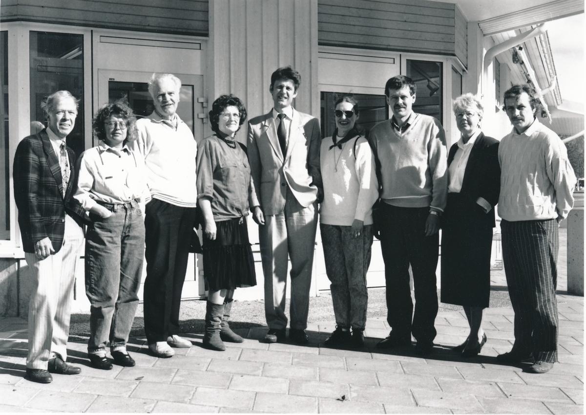Postens kundråd i Kalix kommun, maj 1990. I mitten står Postmästare Bo Johansson.
