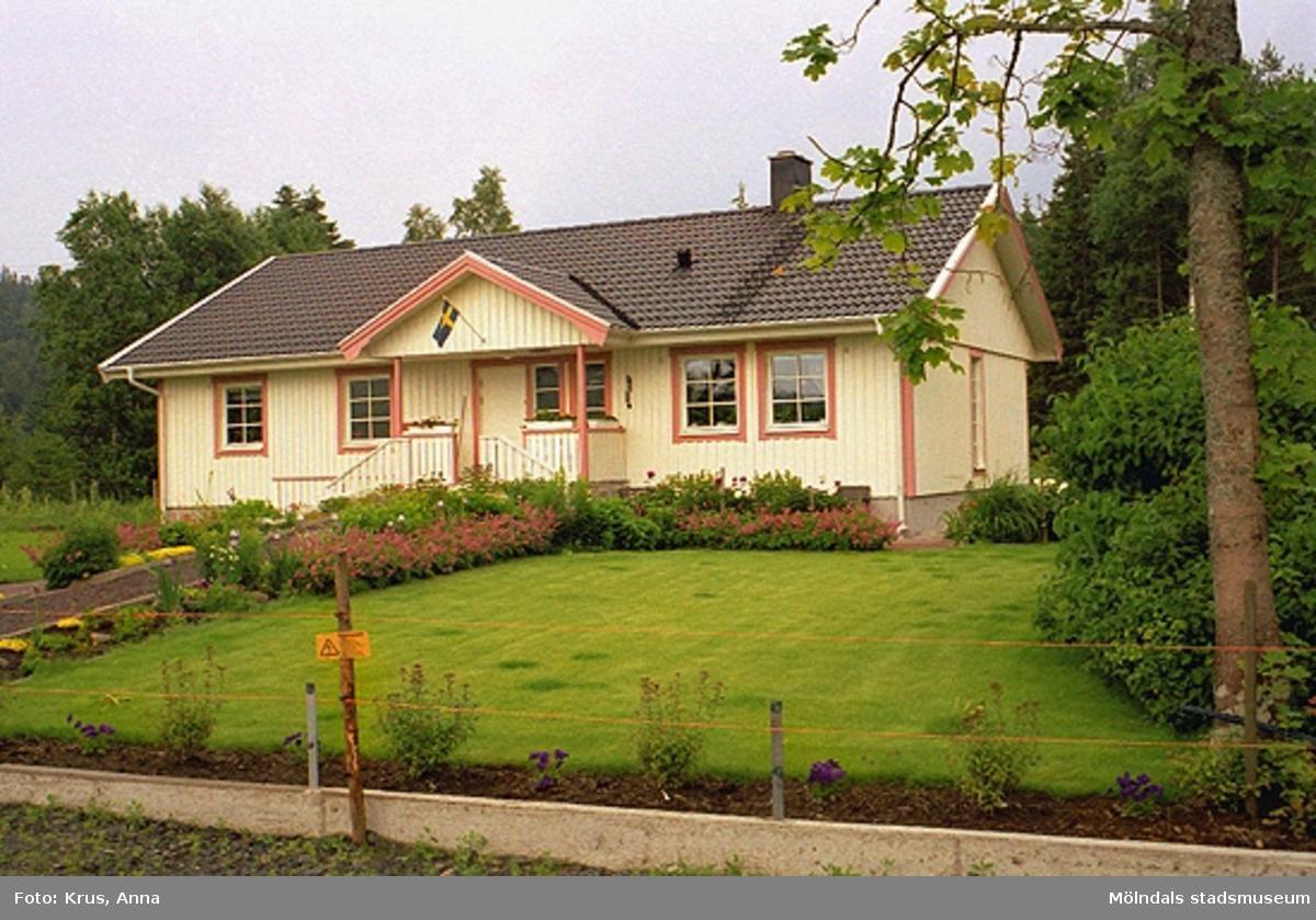 Ålgårdsbacka 1:7. Nybyggt boningshus sett från väster.