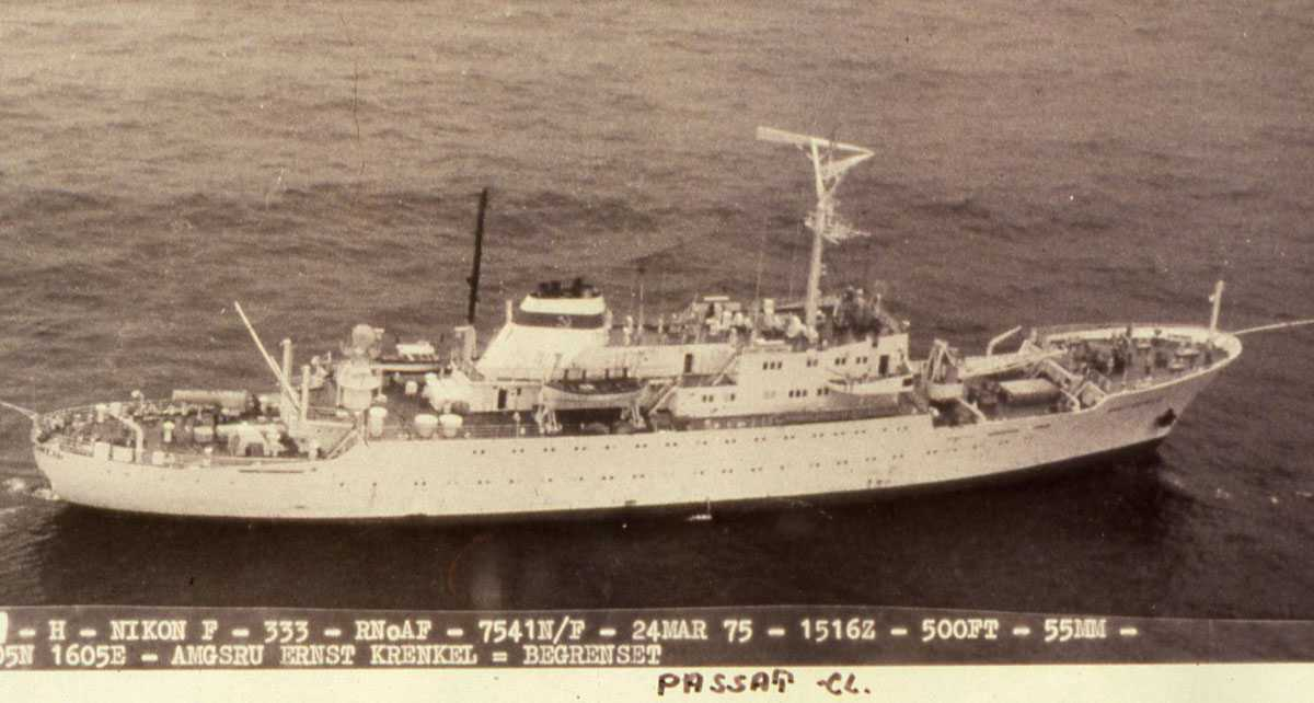 Russisk fartøy av Passat - klassen (B 88 Type) med navnet Ernst Krenkel.