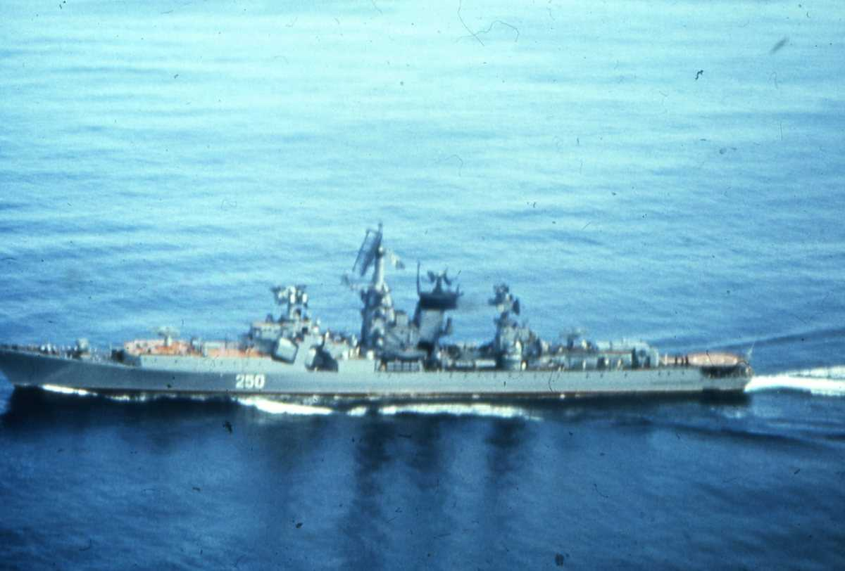 Russisk fartøy av Kresta II - klassen med nr. 250.
