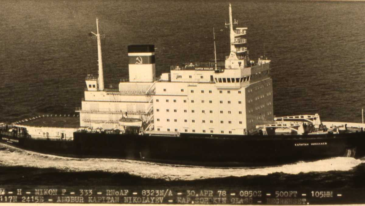 Russisk fartøy av Kapitan Sorokin - klassen som heter Kapitan Nikolaev.