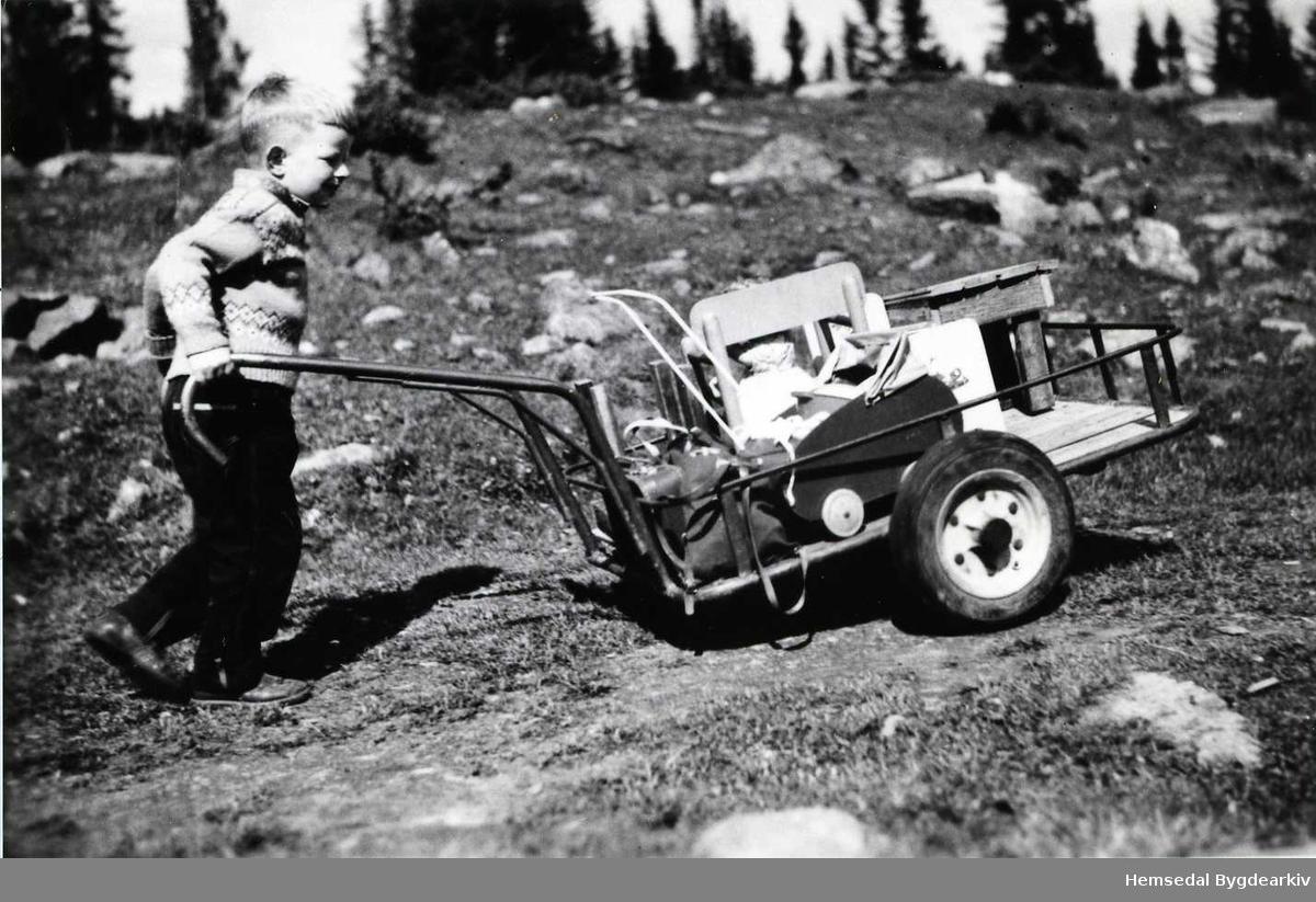 Son til Gunnar Aalrust (usikkert) frå Hemsedal i 1957-58