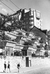 Terrasshus- och höghus, Gröndal Exteriör