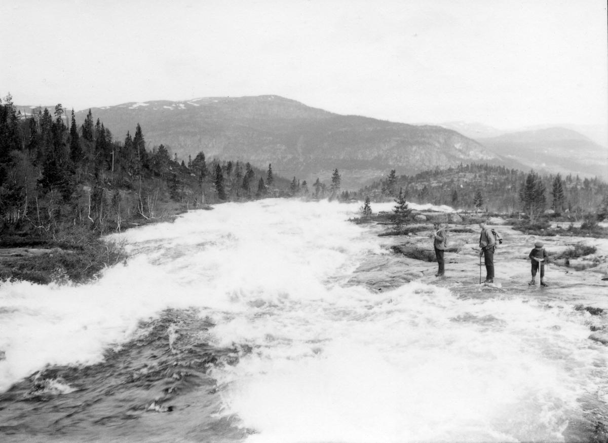 Gausvassdammen våren 1913