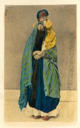 Femme portant son entant  Arabisk kvinna med barn (ev Palest