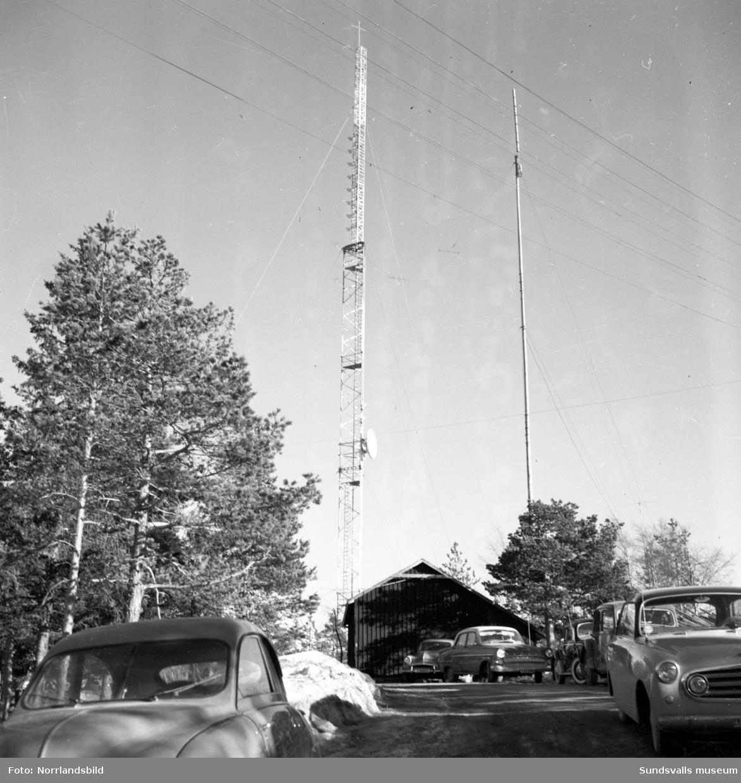 TV-mast och station på Södra berget i Sundsvall.