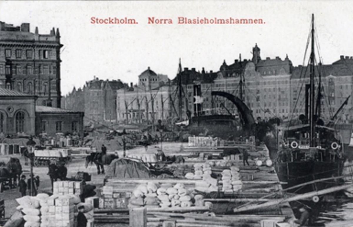 Stockholm. Norra Blasieholmshamnen.