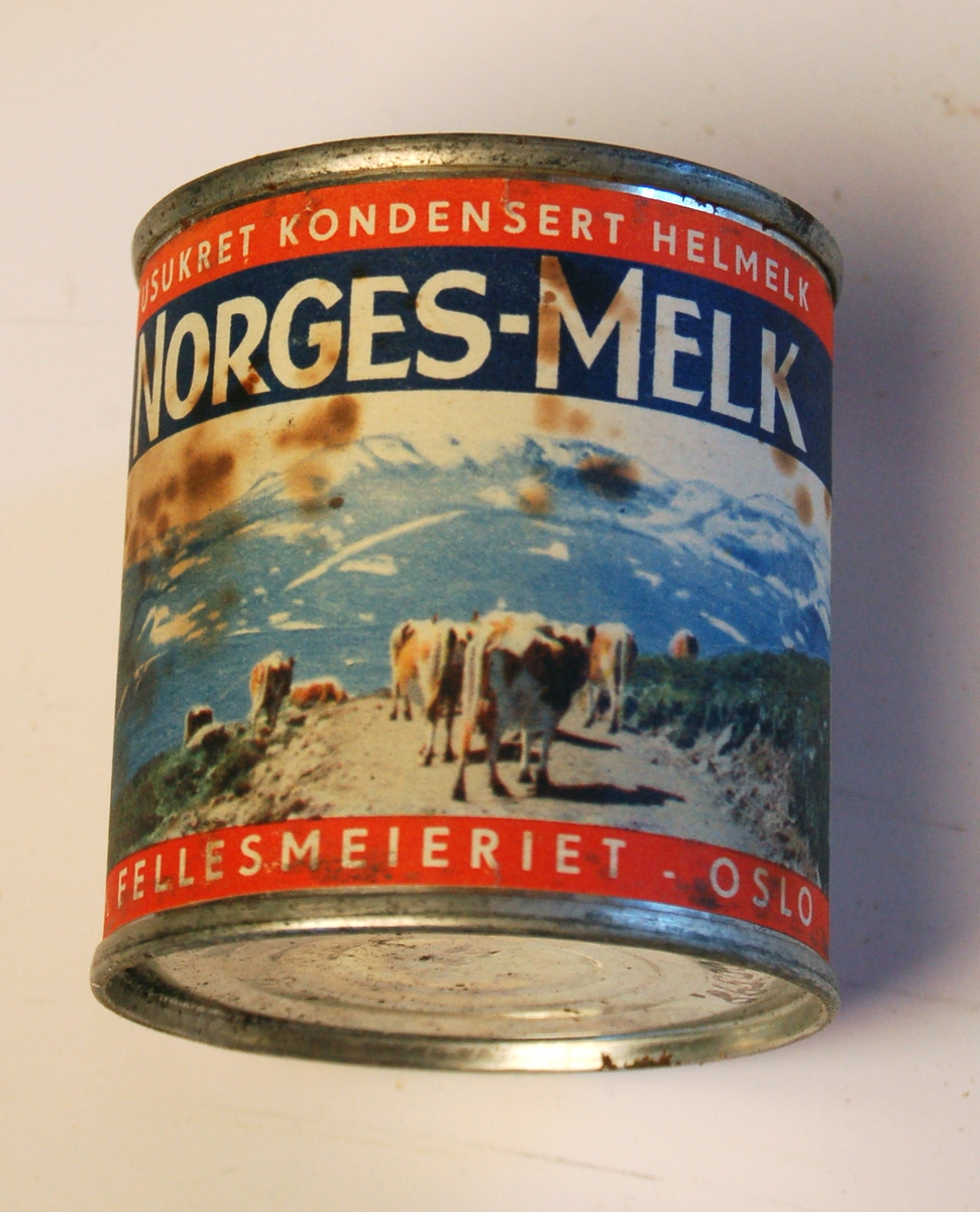 Sylinderforma hermetisk lukka blekkboks til melkeprodukt.
