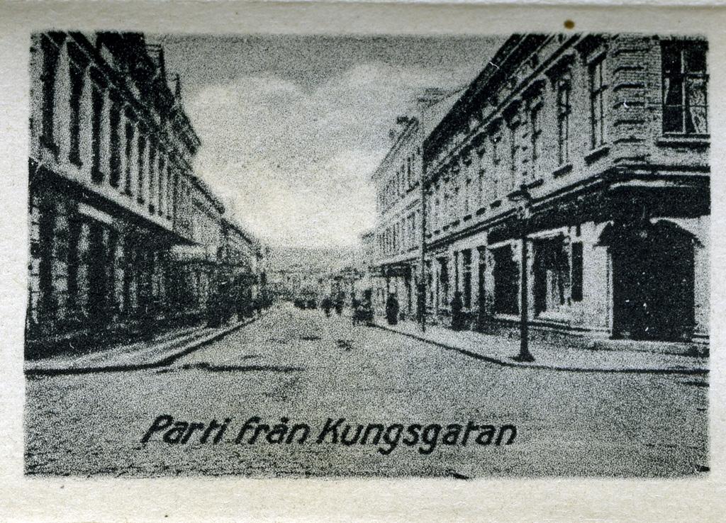 """Text till bilden: """"Parti från Kungsgatan""""."""