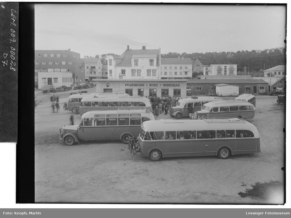 Busser i sentrum av Steinkjer