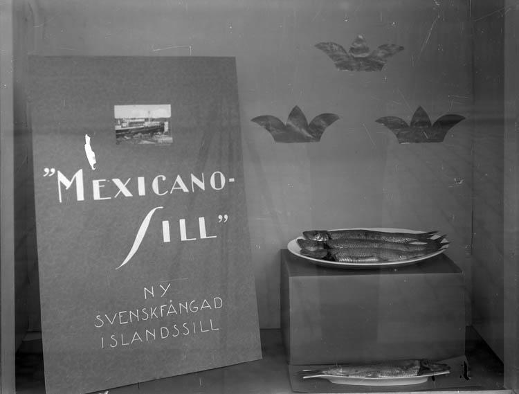Reklam för svenskfångad islandssill, Uddevallautställningen 1928