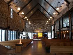 Den norske kirke, Mortensrud kirke, interiør, eksteriør, ser