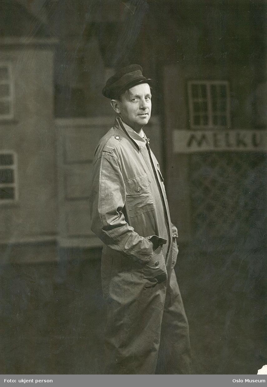 portrett, mann, skuespiller, rollebilde, stående halvfigur