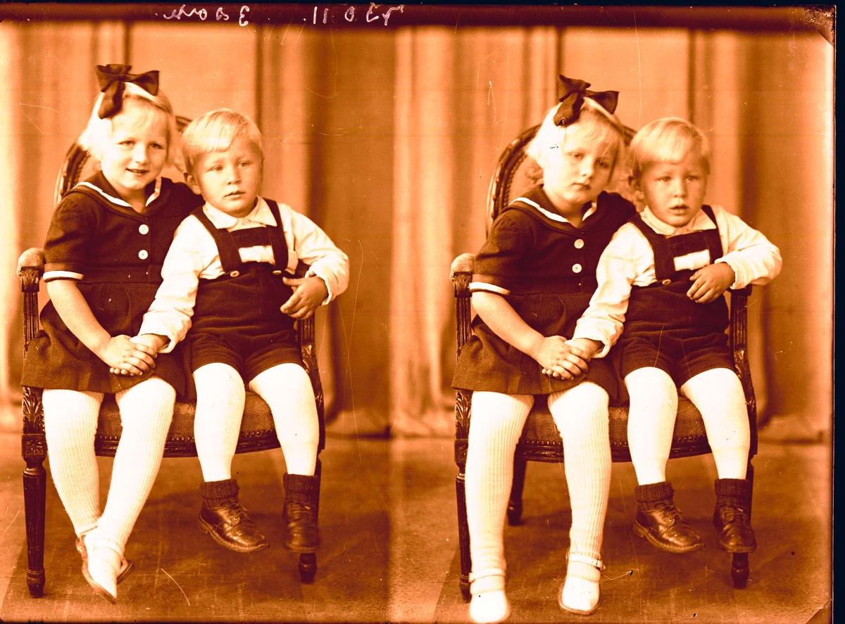Portrett - 2 barn.