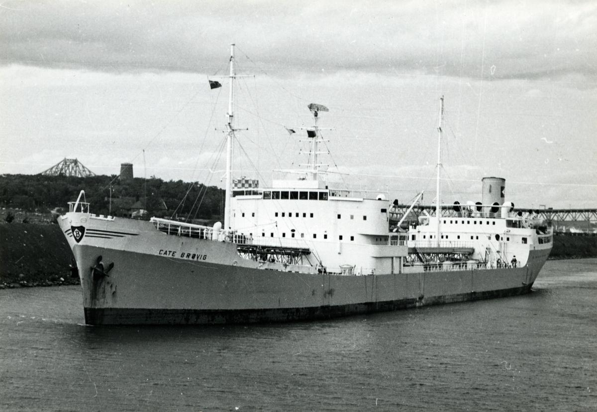 M/T 'Cate Brøvig' (Ex. Kongstank)(b.1952, Rosenberg mek. Verksted, Stavanger).