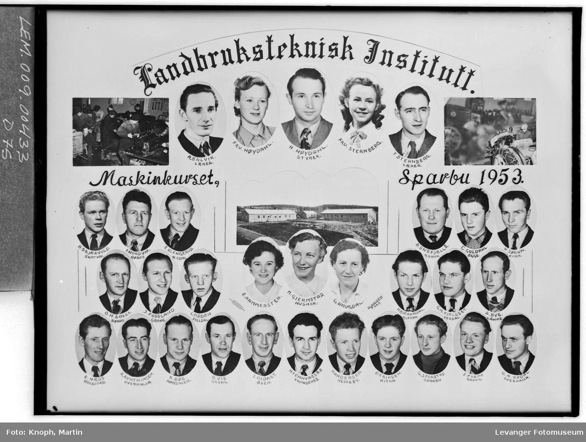 Landbruksteknisk Insitutt, Maskinkurset i 1953