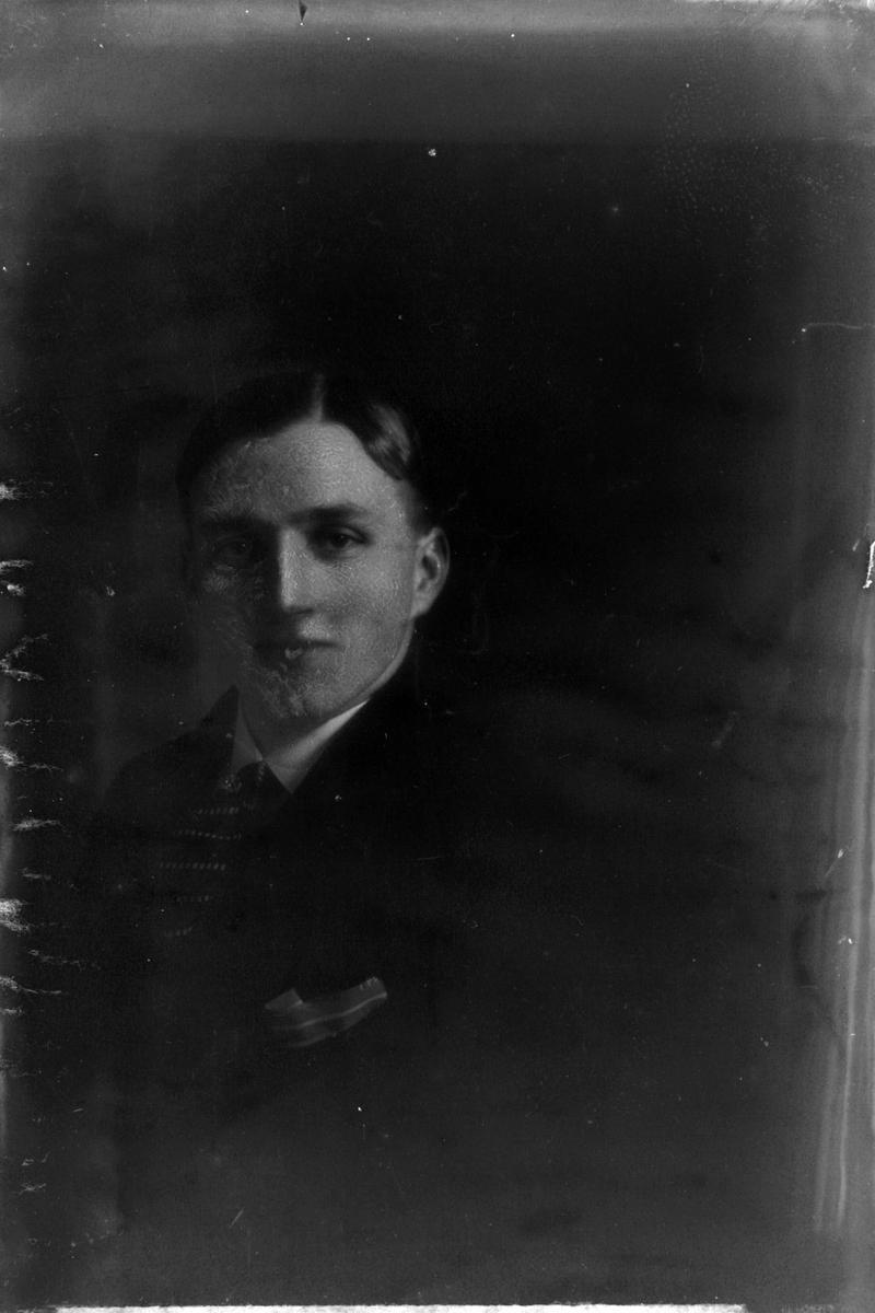 Studioportrett i halvfigur av en mann.