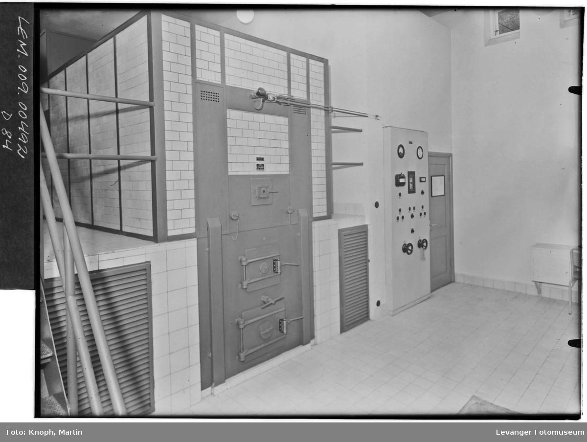 Krematoriet ved Steinkjer Kapell, 1954
