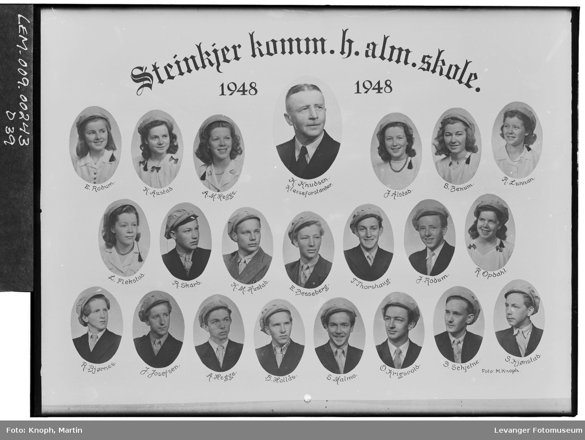 Steinkjer komm. h.alm.skole i 1948