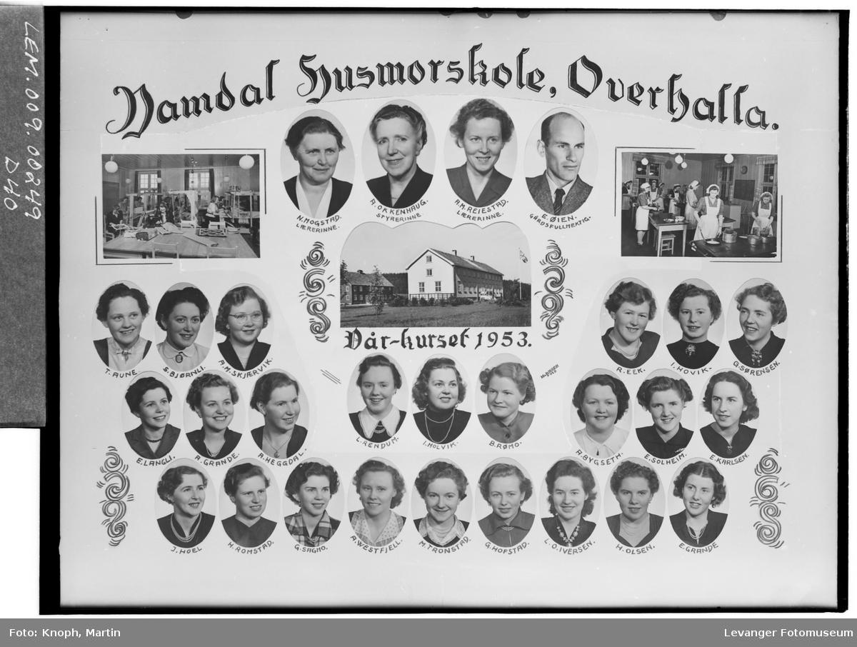 Namdal Husmorskole i Overhalla, 1953