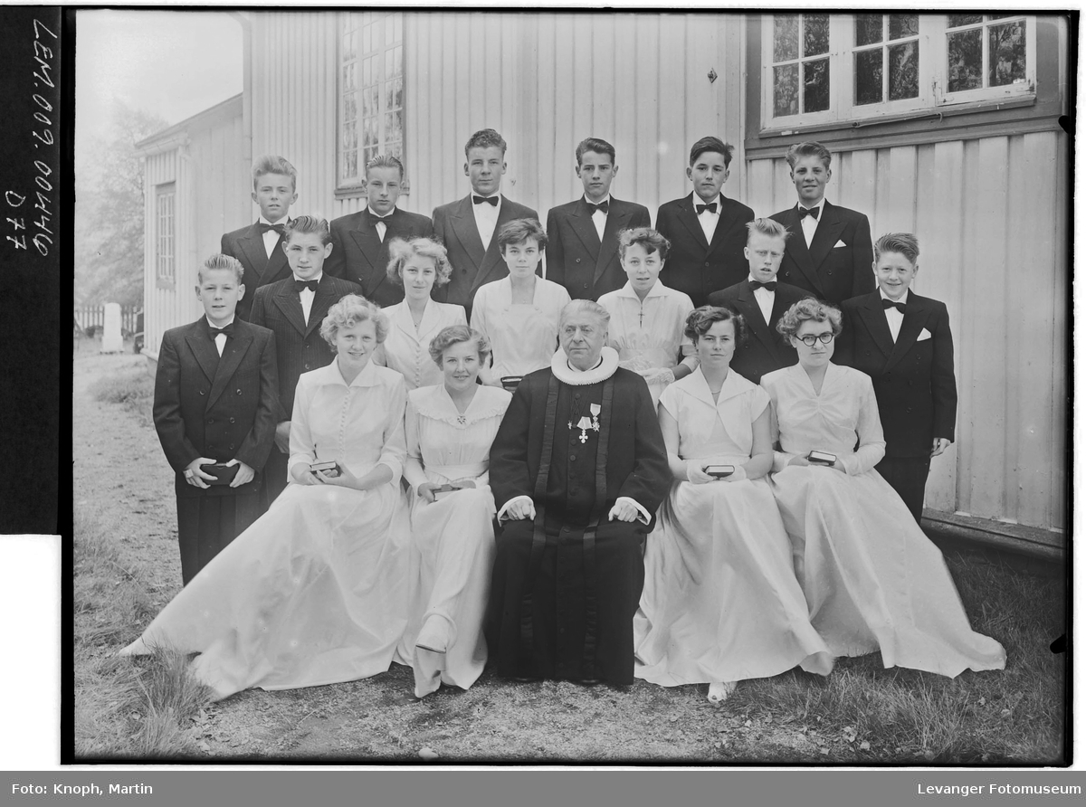 Konfirmantene i Skei, 1954