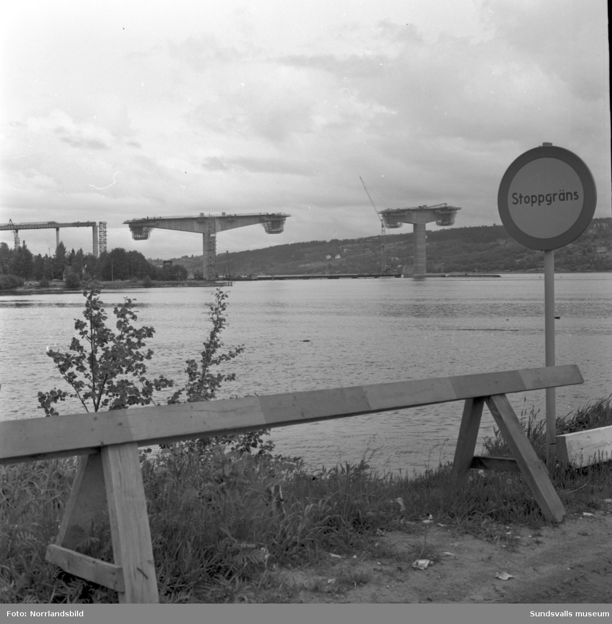 Bygget av Alnöbron pågår för fullt.