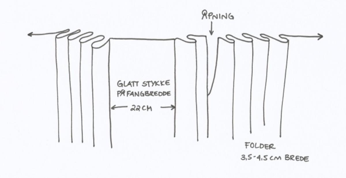 Stakk i samme stoff som liv SM.008023; svart og brunrutet ull i hjemmevevd toskaft. Stakken er falmet og slitt med en del hull spredt utover. Sydd sammen for hånd med attersting med svart bomullstråd av fem vevbredder som har jarekanter. Stakken har et 22 cm bredt glatt stykke midt på foran og foldelagt på begge sider. Åpningen er i venstre side og er 21 cm lang. Stakken har fire folder foldelagt mot høyre og seks folder foldelagt mot venstre, 3,5-4,5 cm brede. Midt på bak er det et 13 cm rynket felt med en halv fold over på begge sider. Foldene er tråklet med mørk blå ulltråd, sydd på med attersting med svart bomullstråd og så kastet med faldesting med svart bomullstråd. Linningen er i samme stoff som kjolen og sydd med faldesting med svart bomullstråd deretter med prikkesting med brun lintråd midt på linningen. Lukkes med to metallhekter. Stakken har en 4 cm bred hengefald 11,5 cm fra nedkanten, sydd med faldesting med svart bomullstråd, og en 7,5 cm bred skoning i stripet bomullsstoff sydd med faldesting med svart bomullstråd. Dette er kjøpetøy i fargene beige, rosa, lys blå, blå, mørk blå, hvit og grå. Stakken har en 21 cm lang og 19 cm bred lomme på høyre side i samme stoff som fôret på livet, sydd fast med attersting med ubleket bomullstråd. Stakken har en metallhempe midt på bak på linningen for å hekte på livet og skal brukes utenpå livet.