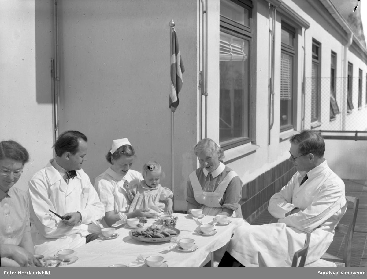 2-årskalas på barnsjukhuset i Sundsvall.