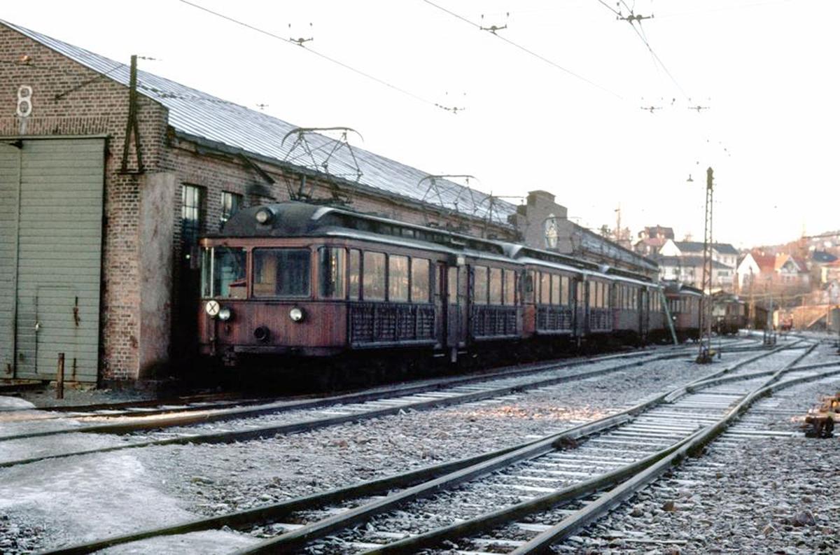 A/S Holmenkolbanen. Oslo Sporveier. Sognsvannsbanevognene 204, 203, 202, 205. Type 1934 (Skabo, NEBB)