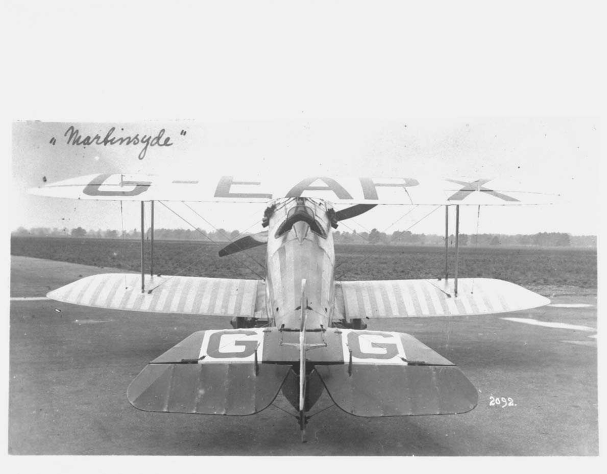 """Fly på bakken. Martinsyde """"Semiquavis"""". G-EAPX"""