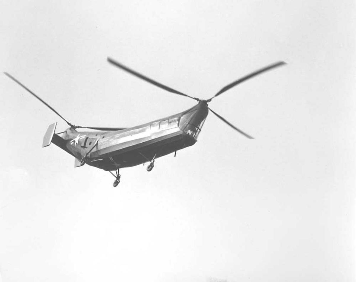 1 helikopter i luften. Piasecki HRP-1 (PV-3).
