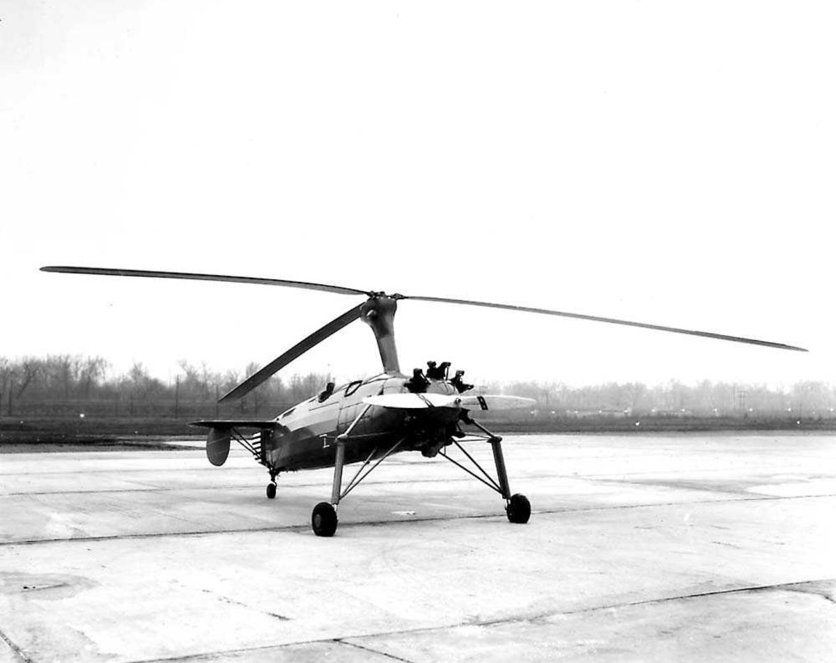 1 Autogiro på bakken. Kellett YG-1 Autogiro.