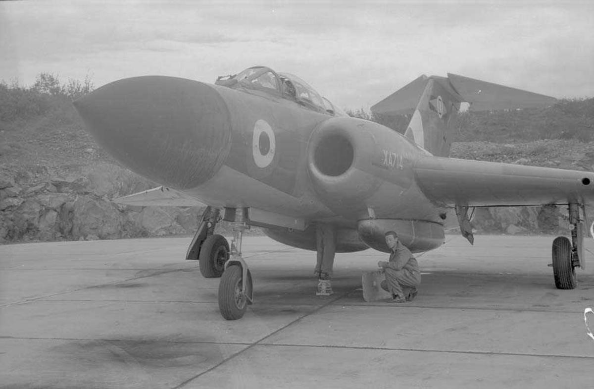 Jagerflyet Closter Javelin, RAF. Nr. XA714.