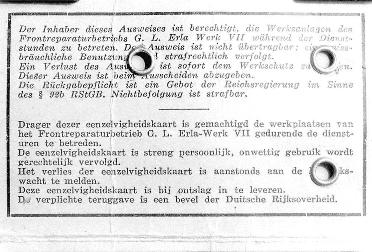 Baksiden på et ID-kort.