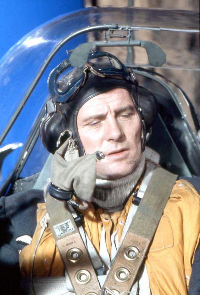 En pilot i cockpiten på Spritfire Mk.