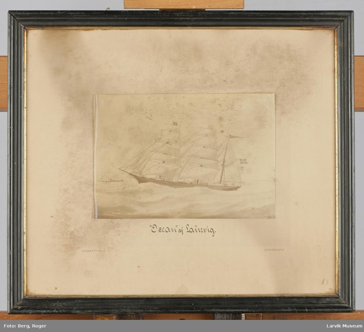 Barken Ocean av Larvik med fulle seil