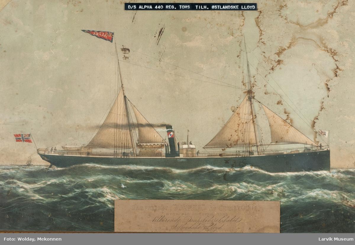 Dampskipet Alpha av Larvik