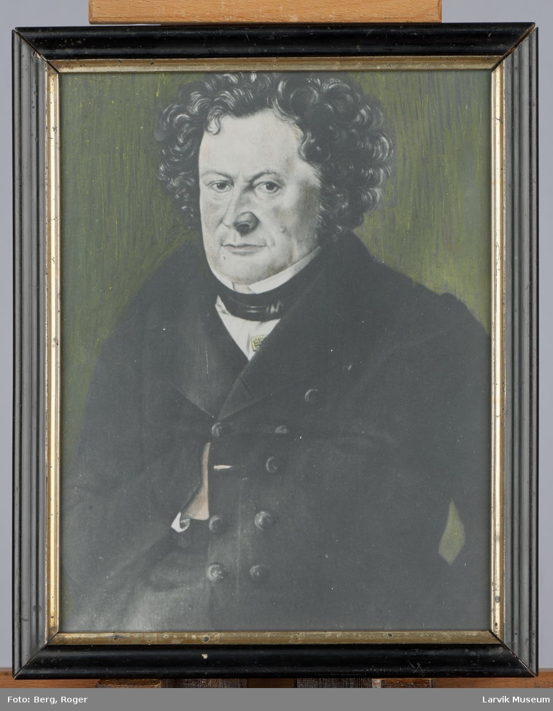 Foto av Carl Fredrik Elligers, Larvik, 1792 - 1846.