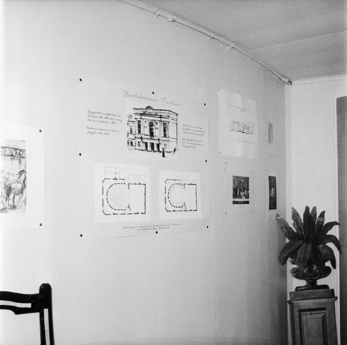 Övrigt: Foto datum: 4/12 1957 Byggnader och kranar Bildgalleri på gamla teatern