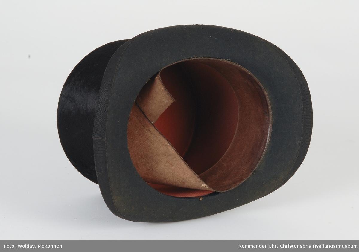 Flosshatt i futteral (hatteske)
