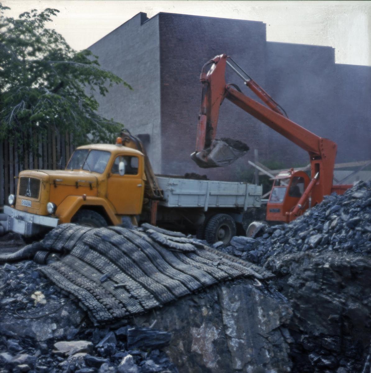 Utgravning av tomten - Norsk Sjøfartsmuseum byggetrinn 3.