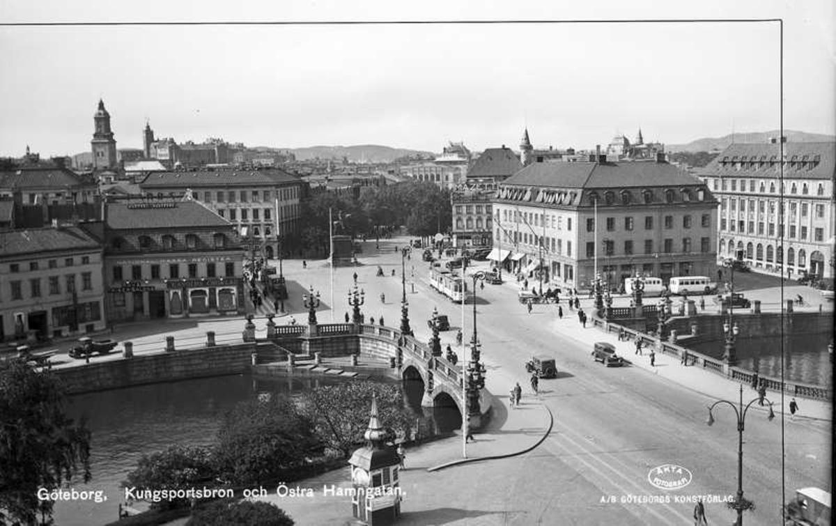 Kungsportsbron och Östra Hamngatan.