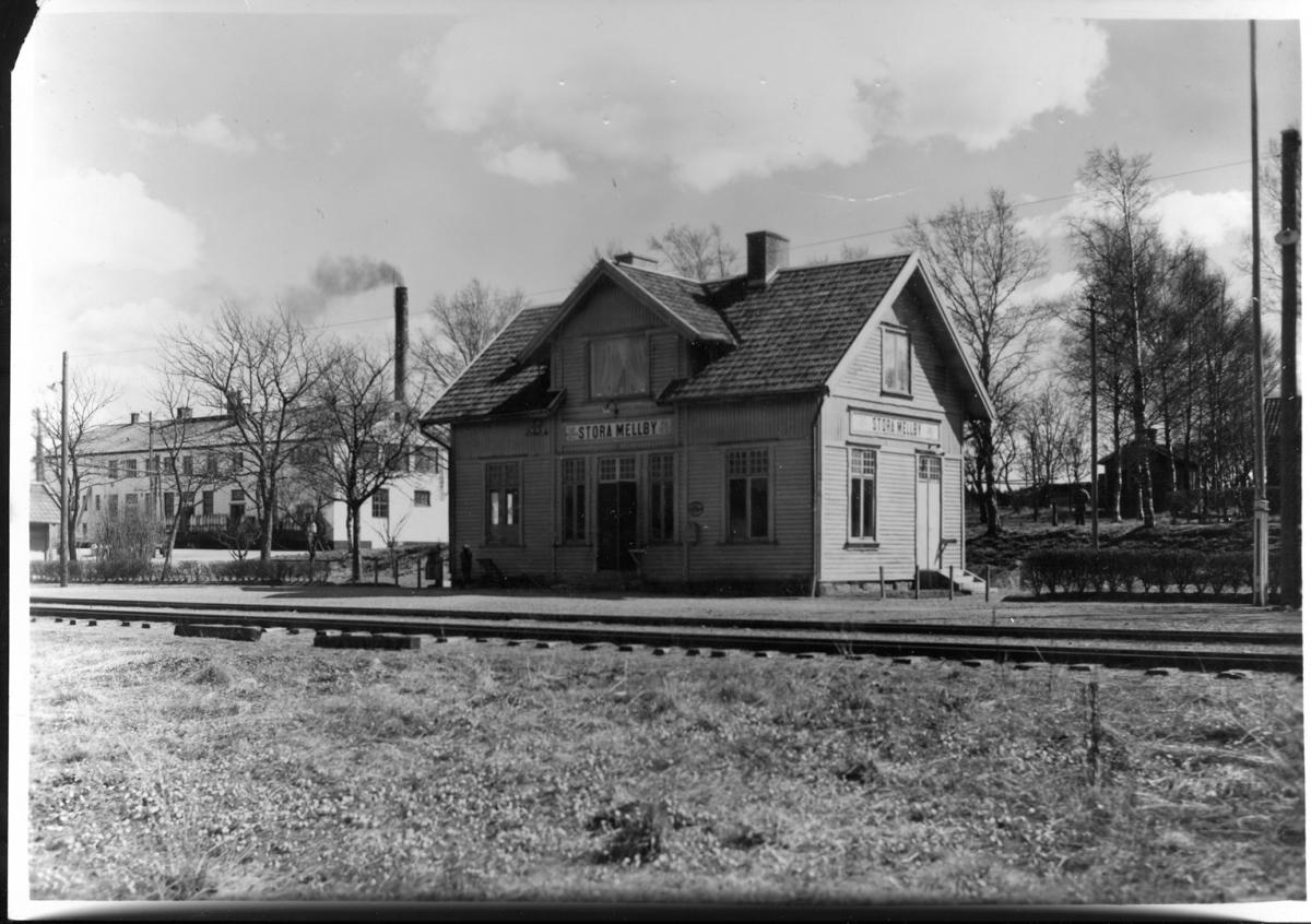 Stora Mellby  Järnvägsstation och Mejeri