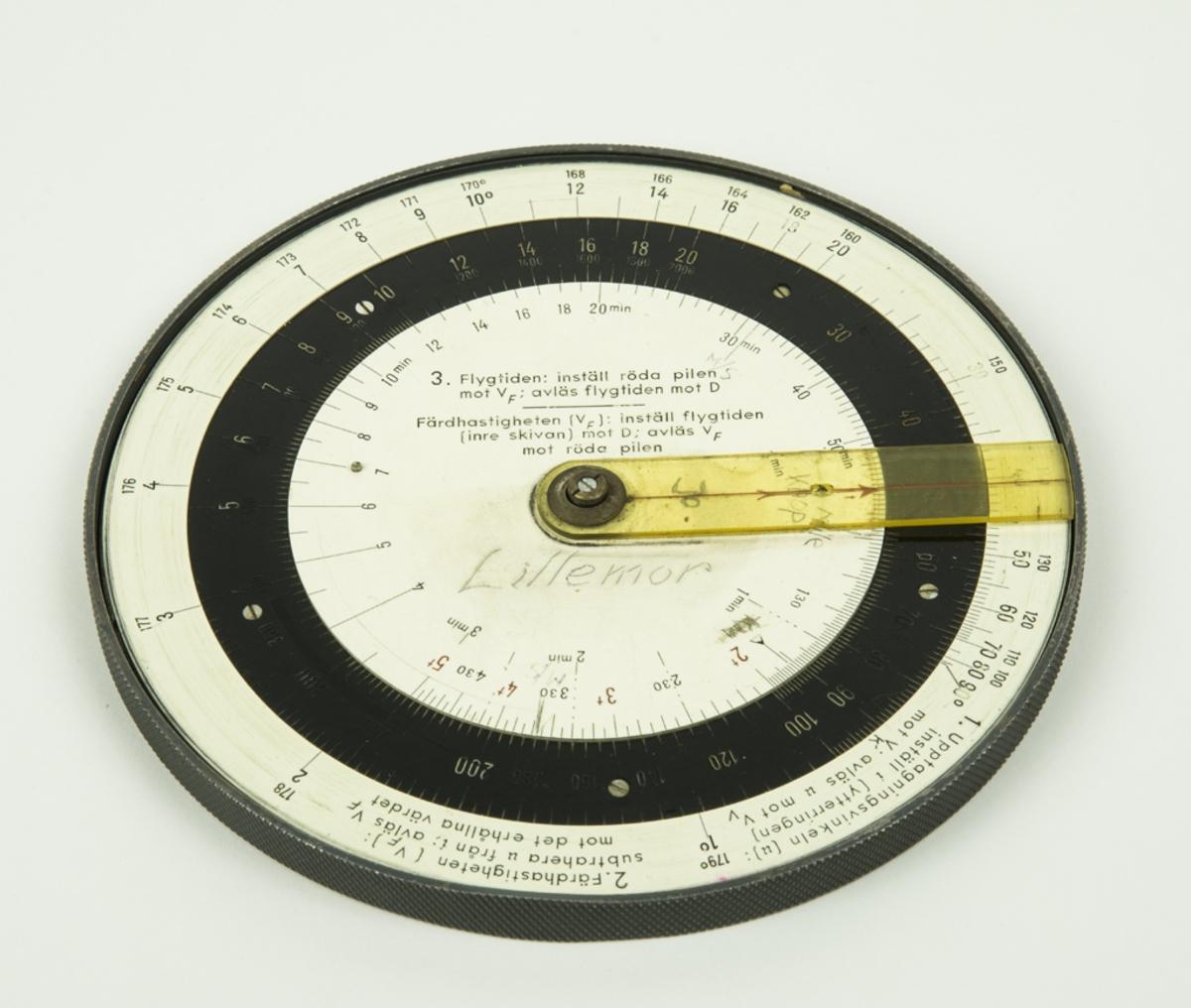 Navigeringsskiva - Flygvapenmuseum / DigitaltMuseum