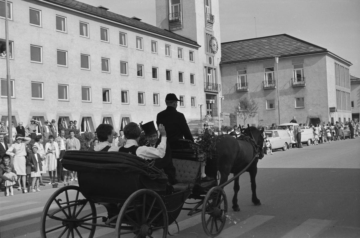 Glomdalsbruden 1965. Opptog i Leiret. Elverum.